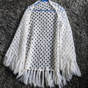 White vintage shawl